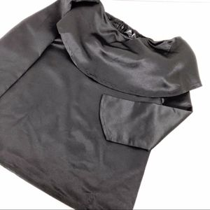 black satin top long sleeved blouse